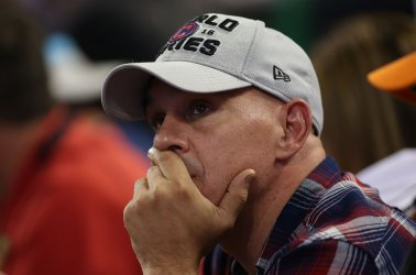 Dejected Indians fan watches in World Series game 7