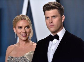 Scarlett Johansson attends Vanity Fair Oscar party 2020