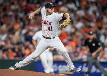 Astros starting pitcher Brad Peacock