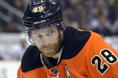 Flyers Claude Giroux During 6-2 Pens Winn in Pittsburgh.