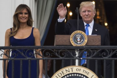 President Trump Spends Fourth Of July In Washington DC