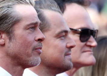 Pitt, DiCaprio and Tarantino attend the Cannes Film Festival