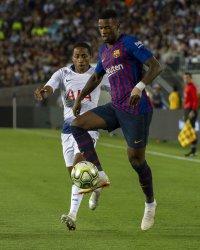 International Champions Cup match between FC Barcelona vs Tottenham Hotspur in Pasadena, California