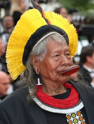 Chief Raoni Metuktire attends the Cannes Film Festival