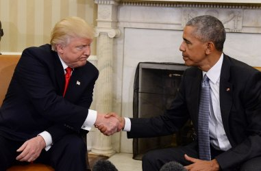 Obama Meets Trump in the Oval Office of the White House