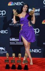 Cardi B wins Top Rap Song and Top Hot 100 Song awards at the 2019 Billboard Music Awards in Las Vegas