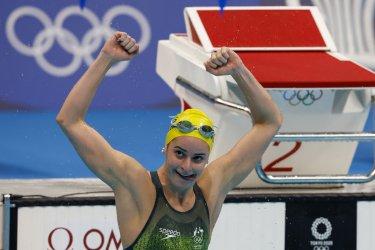 Kaylee McKeown of Australia Gold Medal winner in the Womens 200m Backstroke at Tokyo Olympics
