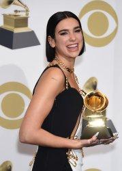 Dua Lipa wins award sat the 61st Grammy Awards in Los Angeles