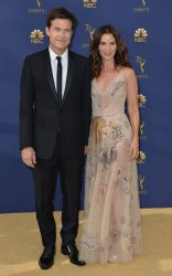 Jason Bateman and Amanda Anka attend the 70th annual Primetime Emmy Awards in Los Angeles
