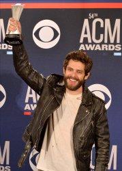 Thomas Rhett wins award at the Academy of Country Music Awards in Las Vegas