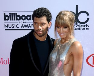 Singer and host Ciara (R) and Russell Wilson  attend the Billboard Music Awards in Las Vegas