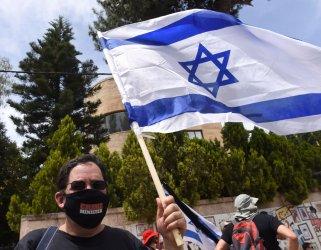 An Israeli Protests Against Prime Minister Benjamin Netanyahu, Jerusalem