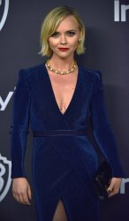 Christina Ricci attends Instyle/Warner Bros. Golden Globes party