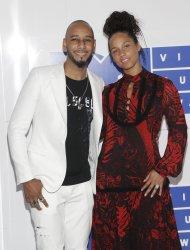Swizz Beatz and Alicia Keys arrive at the 2016 MTV Awards