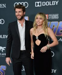 "Liam Hemsworth and Miley Cyrus attend ""Avengers: Endgame"" premiere in Los Angeles"