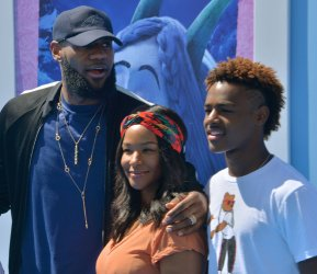 """LeBron James and family attends the """"Smallfoot"""" premiere in Los Angeles"""
