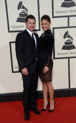 Nick Lachey and Vanessa Lachey arrive for the 58th annual Grammy Awards in Los Angeles