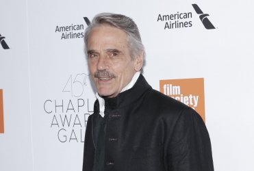 Jeremy Irons arrives at the 45th Chaplin Award Gala in New York