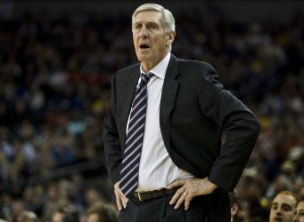 Utah Jazz Head Coach Jerry Sloan loses to the Golden State Warriors in Oakland, California