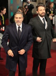 Ben Affleck and George Clooney arrive at the Baftas Awards Ceremony