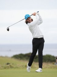 Tommy Fleetwood on the 3rd day of the Open Championship at Royal Portrush