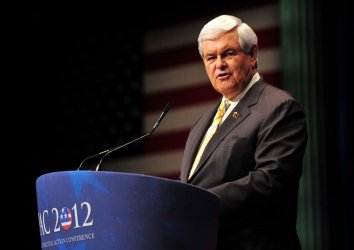 Presidential Candidate Newt Gingrich speaks at CPAC in Washington