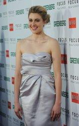 "Greta Gerwig attends the ""Greenberg"" premiere in Los Angeles"
