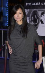 """Kelly Hu attends the premiere of """"Smiley"""" in Los Angeles"""