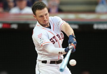 Astros' Alex Bregman during the MLB All-Star Home Run Derby in Cleveland, Ohio
