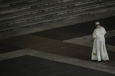 Pope Francis during Good Friday's Way of the Cross