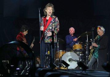 The Rolling Stones perform in concert in Paris