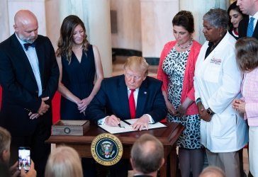 President Trump Signs and Executive Order to Improve Healtecare Billing Transparancy at the White House