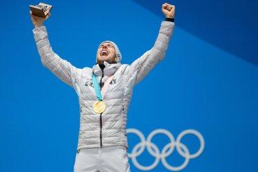 Medal Ceremony at Pyeongchang 2018 Winter Olympics