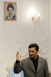 Iran's President Mahmoud Ahmadinejad Meets Director General of IAEA Egyptian Mohamed ElBaradei