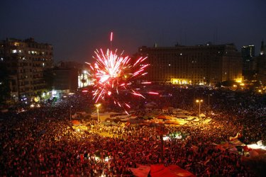 Egyptians Celebrate Victory of Mohammed Morsi in Presidential Election