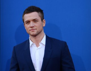 """Taron Egerton attends the """"Sing"""" premiere in Los Angeles"""