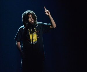 J. Cole performs during the 18th annual BET Awards in Los Angeles