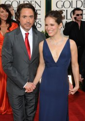 Robert Downey Jr. and wife Susan arrive at the 68th annual Golden Globe Awards in Beverly Hills, California