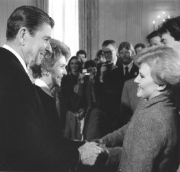President and Nancy Reagan Greet Rosalynn Sumners