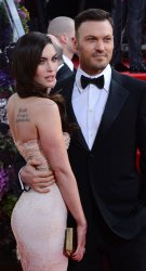 Megan Fox and Brian Austin Green attend the 70th annual Golden Globe Awards in Beverly Hills, California