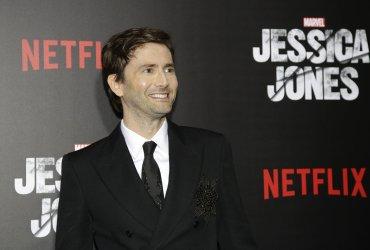 David Tennant arrives at Jessica Jones premiere