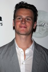 Jonathan Groff arrives for the 2011 Theatre World Awards in New York