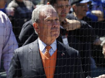 New York City Mayor Michael Bloomberg at Opening Day at Citi Field in New York