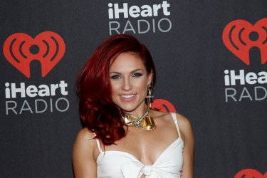 Sharna Burgess arrives for the iHeartRadio Music Festival