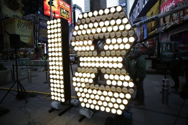 New Year's Eve Numerals Arrive in Times Square