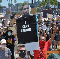Thousands March for All Black Lives Matter in West Hollywood