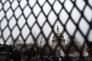 Higher Fencing is Installed at the U.S. Capitol