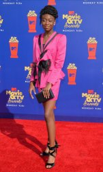 Shahadi Wright Joseph attends the MTV Movie & TV Awards in Santa Monica, California
