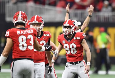 Georgia's Rodrigo Blankenship makes field goal during the National Championship