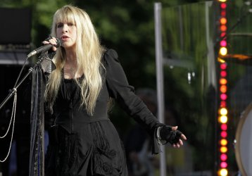 Stevie Nicks performs on the ABC Good Morning America Show in Central Park in New York